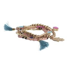 Welcome to Blε - Ble Resort Collection Tassel Bracelet, Jewelry Bracelets, Jewellery, Pink And Gold, Tassels, Jewelry Accessories, Color, Collection, Fashion
