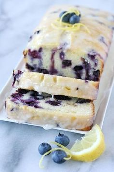 Lemon Blueberry Loaf Recipe Blueberry Bread, Quick Bread, Lemon, Blueberry Loaf Cakes, Cranberry Bread