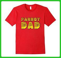Mens Parrot dad shirt Medium Red - Animal shirts (*Amazon Partner-Link)