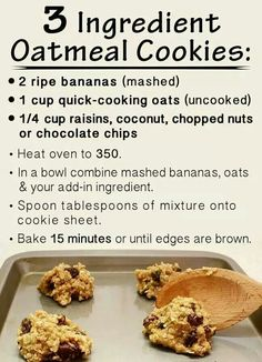 Easy Healthy Cookie Recipes With Few Ingredients.The Best Soft Chocolate Chip Cookies Recipe Pinch Of Yum. Crpes Recipe Joyofbaking Com *Video Recipe*. How To Make Oatmeal Cookies : Food Network Recipes . Healthy Cookies, Healthy Sweets, Healthy Baking, Eating Healthy, Healthy Treats For Kids, Healthy Food, Quick Cookies, Easy Snacks For Kids, Healthy Toddler Snacks