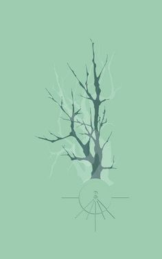 'Tree Branches II - Univers' von Pia Schneider bei artflakes.com  #art #illustration #design #hemlock #treebranches #branches #trees #nature #fantasy #abstract #surreal #home #decor #ateliercolourvision #piaschneider
