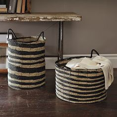 love these baskets! could paint up some DIY style