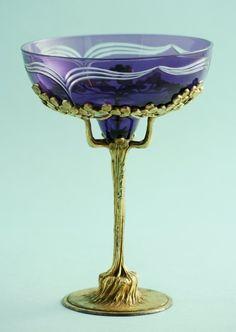 Orivit Art Nouveau Champagne Goblet, Cologne, 1904.