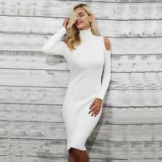 MERCEDES Knitted Dress One Shoulder (more colors)