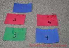 Use coloured paperclips to practice counting and fine motor skills. Scribble Doodle and Draw