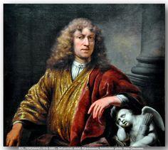 BOL, FERDINAND (1616-1680) – Self-portrait, detail. Rijksmuseum, Amsterdam.  c.1669. Rijksmuseum, Amsterdam.