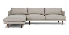 Burrard Seasalt Gray Left Sectional Sofa - Sectionals - Article   Modern, Mid-Century and Scandinavian Furniture