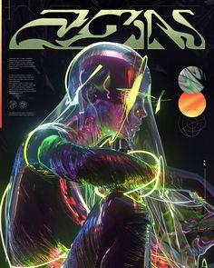 Graphic Design Posters, Graphic Design Illustration, Graphic Design Inspiration, Fuchs Illustration, Crea Design, Arte Punk, New Retro Wave, Plakat Design, Psy Art
