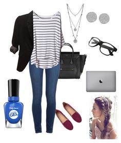 Starbucks and their convenient wifi by princesalatina on Polyvore featuring polyvore, fashion, style, The Limited, Paige Denim, H&M, Vince Camuto, Karen Kane and Sally Hansen