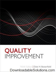 Digitalsolutions downloadablesol on pinterest quality improvement 9th edition dale h besterfield solutions manual download answer key test bank fandeluxe Gallery