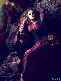 How convenient that after Adele won six Grammy's last night her March Vogue cover story is up online. Excellent timing.