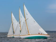 Herreshoff S boat competing in the 2014 Race Week Newport regatta hosted by the New York Yacht Club and Rolex Miles Abram, Steve Paolantonio and Captain Allen Silkin