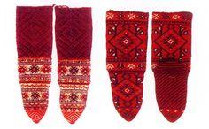 awesome knit stockings from Skopska Blatija, Macedonia
