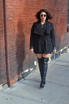 Plus Size Thigh High Boots - Cr Boot