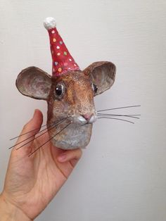 Paper Mache Mouse-The Stealthy Rabbit