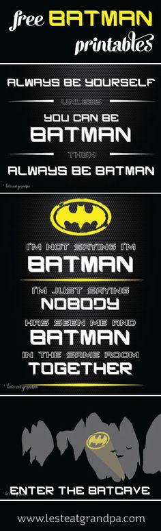 Gotta Love These Free Batman Printables!