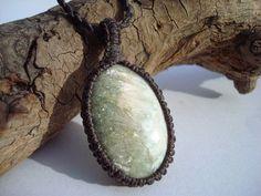 Heulandite Necklace/Zeolite/Stilbite/White Green by GaiasGiftsToUs