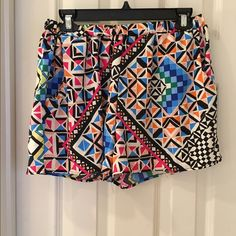 Printed flowy shorts. Worn once! Super cute printed shorts. Flowy, not tight fitted! Wore them once so they're in great condition Pants Store Shorts
