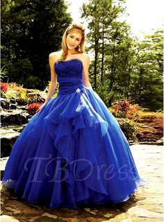Tbdress.com offers high quality  Sweetheart A-line Empire Lace Bodice Crystal Design Quinceanera Dresses Ball Gowns unit price of $ 158.64.