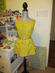 Easy DIY Summer dress.   sewing for teens. DIY dress