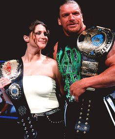 Stephanie McMahon-Helmsley and Triple H