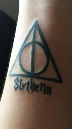 slytherin tattoo   About 2 weeks ago I finally got the first of many Harry Potter tattoo ...