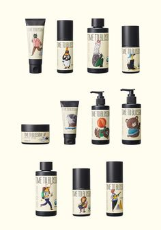 Åland, the multi-brand store from Korea has recently launched their own cosmetic brand. 'Time to blossom' is organic cosmetic series and I did illustrations with short stories for their packages. Package design by Crosspoint design studio.
