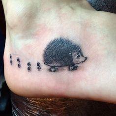 Image result for hedgehog tattoo