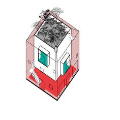 #architecture #axonometric #home #homecontext #landscape #illustration #architecturalimage #homeforfamily #homeconcept #aplusnoima Architecture Graphics, Landscape Illustration, Collage, Image, Collage Illustration, Collages