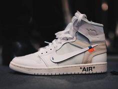 "new product 3ff67 4d68c Off White x Air Jordan 1 ""White"" Jordan 1, Jordan Shoes, Sneakers"