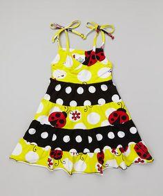 Look what I found on #zulily! Yellow Ladybug Princess Dress - Infant, Toddler & Girls #zulilyfinds