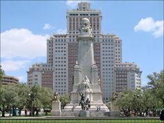 El Quijote en la Plaza de España, Madrid