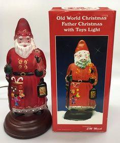 1993 Old World Christmas Santa Father Christmas with Toys Light w/ Box 529727
