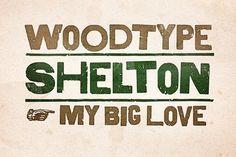 Shelton by HVD Fonts on @creativemarket