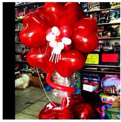 Heart balloon column #heart  #balloon #decor #decoration #column #arch #sculpture