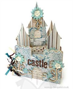 SO: Kaiser Craft - Beyond the Page - Fairy Castle Album Mini Albums, Mini Scrapbook Albums, Baby Scrapbook, Round Robin, Libros Pop-up, Style Scrapbook, Mini Album Tutorial, Baby Album, Heart Crafts