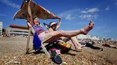 Hot weather in Brighton