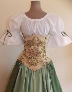 Countess Rose Under-bust Corset Set - renaissance clothing, medieval, costume