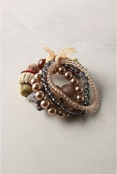 Make your own Anthropologie jewelry - the Willy Nilly Bracelet.