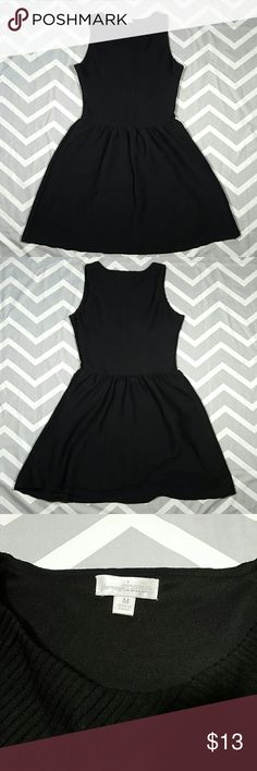 Charmin Charlie black sleeveless dress Pre-owned good used condition, has side zipper. The waist has elastic, but doesn't stretch much (just my opinion)  Armpit to armpit 16.5 Length  35 Waist 14 Charming Charlie Dresses