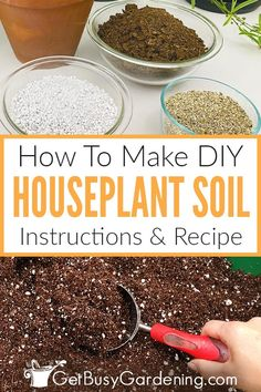 Houseplant soil can be expensive to buy, so mix your own instead. Learn how to make potting soil for indoor plants with this easy DIY recipe. Garden Soil, Garden Care, Garden Tips, Vegetable Garden, Garden Plants, Best Indoor Plants, Indoor Garden, All About Plants, Soil Improvement
