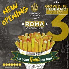 New Opening Queen's Chips Roma Via Salaria 17 #queenschips #lepiubelledelreame #fries #chips #viaspettiamo