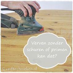 Uitleg over wel of niet schuren en primen van hout. Handig als je jouw #houten #tafel gaat verven om een leuk nieuw kleurtje te geven.