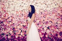 The Daalarna Flower Collection for Spring 2016 is a fabulously feminine bridal collection full of lace, tulle, pearls and pretty watercolour florals. Flower Dresses, Bridal Dresses, Bridesmaid Dresses, Ethereal Wedding Dress, Chiffon Skirt, Boho Bride, Bridal Collection, Ball Gowns, Wedding Inspiration