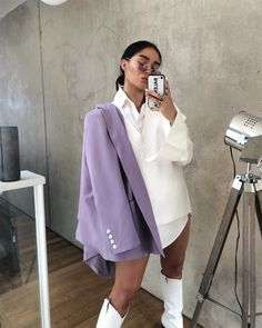 Lila Outfits, Purple Outfits, Spring Outfits, Trendy Outfits, Cool Outfits, Fashion Outfits, Womens Fashion, Spring Fashion Trends, Autumn Fashion