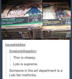 Loki pizza vs Thor pizza