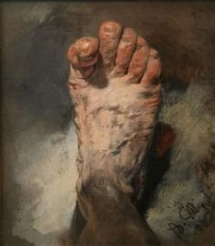 Adolph Menzel (1815 – 1905) - The Artist's Foot : museum
