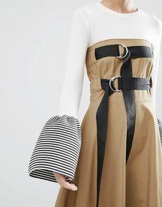Look Fashion, Fashion Details, Skirt Fashion, Diy Fashion, Fashion Dresses, Womens Fashion, Fashion Design, Fashion Trends, Fashion Online