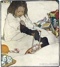 Opening the Christmas Stocking by Jessie Wilcox Smith
