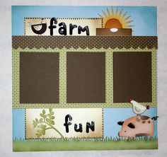 scrapbook layputs simple | Farm Fun Scrapbook page :: Paper Crafter's Library